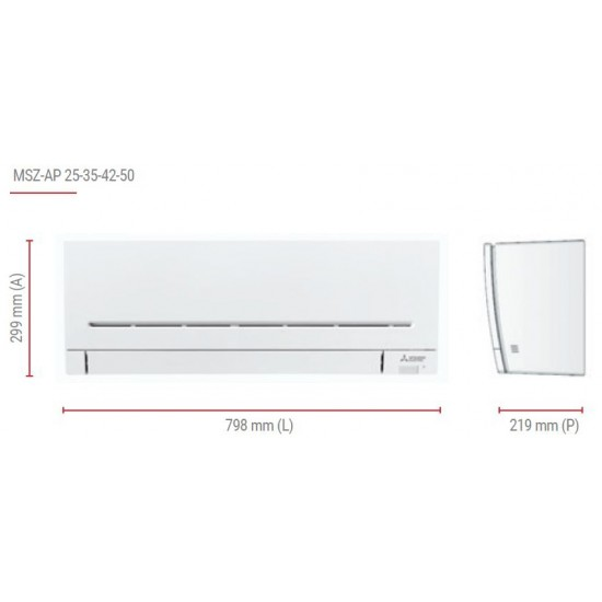 Инверторен климатик Mitsubishi Electric MSZ-AP35VG/MUZ-AP35VG